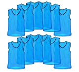 Unlimited Potential Nylon Mesh Scrimmage Team Practice Vests Pinnies Jerseys for Children Youth Sports Basketball, Soccer, Football, Volleyball (Sky Blue, Youth)
