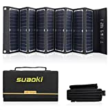 SUAOKI Solar Charger 60W Portable Solar Panel Foldable Power Station/Goal Zero Yeti/Webetop/Paxcess/ROCKPALS Power Station Generator and Laptop Tablet GPS iPhone iPad Camera
