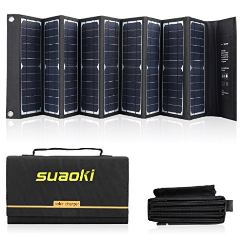 SUAOKI Solar Charger 60W Portable Solar Panel...