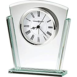 Howard Miller Granby Table Clock 645-781 – Modern Glass with Quartz Alarm Movement