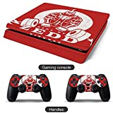 PS4 Slim game console skin sticker protective cover BODY-BY-ZEDD PS4 Slim console and 2PCS whole body protective skin skin sticker