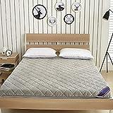 Piano Materasso futon Materasso di Sonno Tatami Pieghevole Roll Up Materasso rotolamento Bed (Colore : Grigio, Dimensione : 180x200cm)