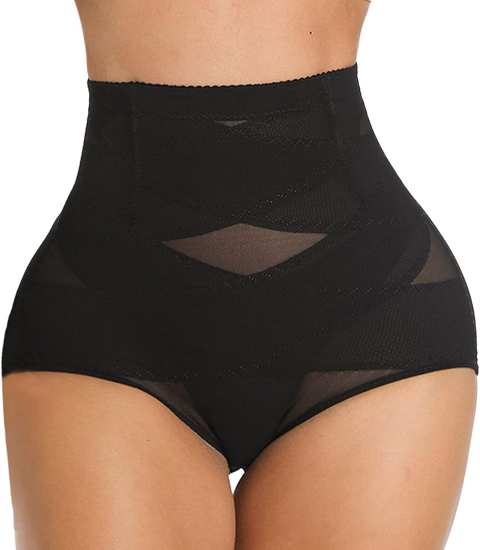 SLIMBELLE Tummy Control Panty Shapewear High Waisted Butt Lifter Shapewear Brief Underwear Seamless Slimmer Girdle Panties Black XL