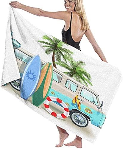 Toallas de Playa Microfibra para Adultos-Ráster Abstracto dinámico-Piscina Fina Toallas de natación de Gran tamaño 130x80cm
