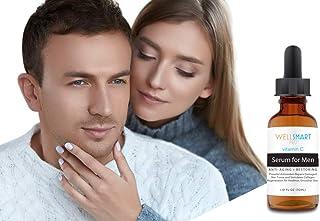 WellSmart Pro Vitamin C Serum for Men – Premium Organic Vitamin C Face Serum for Men – Anti-Aging, Anti-Wrinkle – Regenera...