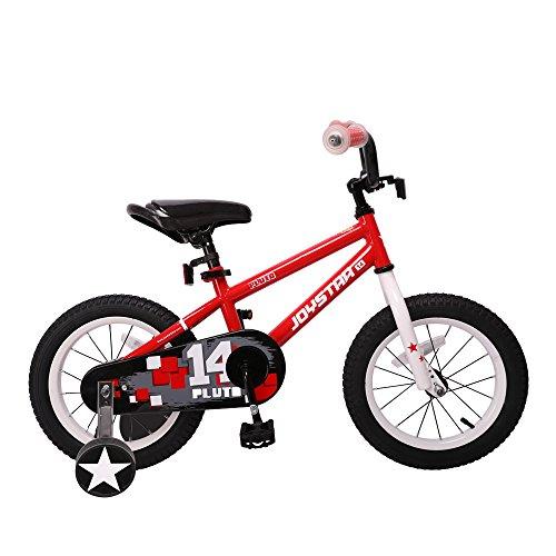 JOYSTAR Kids Bike with DIY Decal & Training Wheels for 12' 14' 16' Kids Bike, Kickstand for 18' Kids Bike