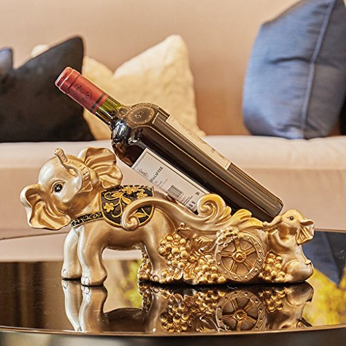 Mode hoofdstad Creatieve olifant ornamenten afgesneden van de wijn rek home decoraties woonkamer TV kast wijnkast Europese moderne wijnrek wijnrek mooi en praktisch