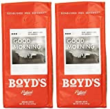 Boyd's Coffee, Ground Coffee, Good Morning, 12oz Bag (Pack of 2)