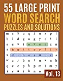 55 Large Print Word Search Puzzles And Solutions: Activity Book for Adults and kids Word Game Easy Quiz Books for Beginners (Find a Word for Adults & Seniors): 13 (Find Words for Adults & Seniors)