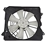 2012 Acura TSX A/C Condenser Fan Assemblies - Passengers Denso Type A/C AC Condenser Cooling Fan Motor Assembly Replacement for Acura Honda 2.4L 38611-R40-A01 AutoAndArt