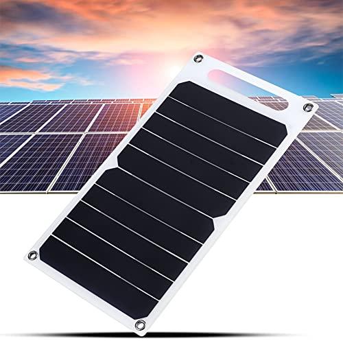 Changor Portátil Solar Panel, 26 X 14 cm con Único Cristal Silicio por Exterior