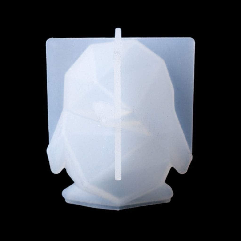 Heilonglu artigianato in silicone decorazioni Stampo in resina epossidica con ciondolo a forma di pinguino 3D per fai da te gioielli