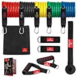 Resistance Band Set arteesol Stackable up to 150 lbs Exercise Bands /5 Resistance