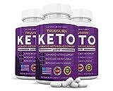 (3 Pack) TruuBurn Keto Pills Includes Apple Cider Vinegar goBHB Exogenous Trueburn Ketones True Burn Advanced Ketogenic Truu Burn Supplement Ketosis Support for Men Women 180 Capsules