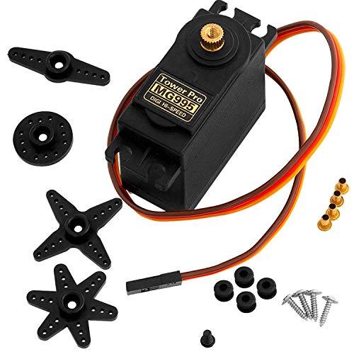 AZDelivery MG995 Micro Digital Servo Motor para RC Robot Avión Helicóptero con E-Book incluido!