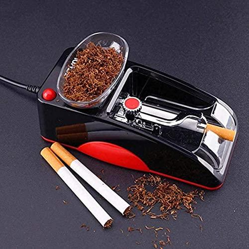 HYLK LSWY Máquina de cigarrillos eléctrica fácil de hacer tabaco máquina de laminación de inyección electrónica rodillo para hacer bricolaje herramienta de fumar, rojo (color: rojo)