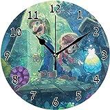 Bunkert Orologio da Parete Super Smash Bros. Mario & Louis Dream Team Round Style B, Silenzioso AntiGraffio, Arte Decorativa per Cucina Camera da Letto Soggiorno Camera dei Bambini
