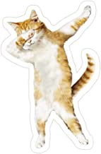 Andrews Mall Dabbing Cat Kitten Funny Dab Tee Cool Dance Kitty Stickers (3 Pcs/Pack)