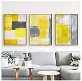 Cqzk Modern Style Abstrakt Farbe Gelb Grau Weiß
