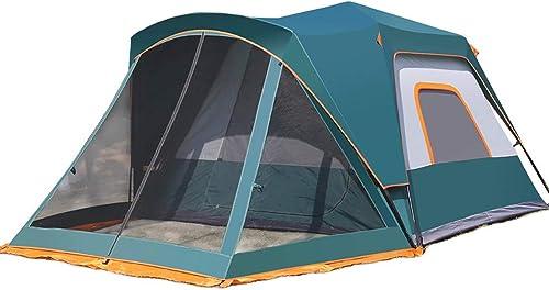ZLZL Tente De RandonnéE LéGèRe pour Tente De RandonnéE Familiale, Grande Capacité, 4 Personnes, 4 Saisons, pour Camping, RandonnéE, Escalade - InsTailletion Facile,Darkbleu