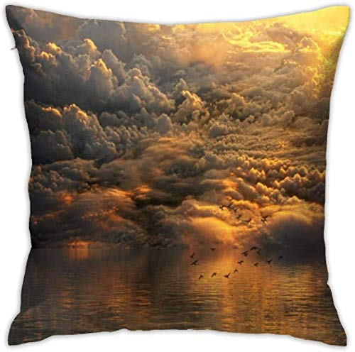 Bxad Throw Pillow Covers Fantasy Clouds Sky Pillowcase Cushion Case for Sofa Bed Chair Home Decor.(18x18 Inch)