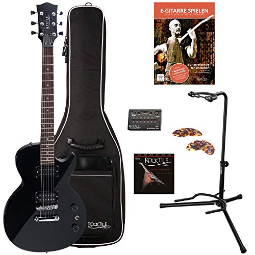 Rocktile Guitarra eléctrica LP-100 BL