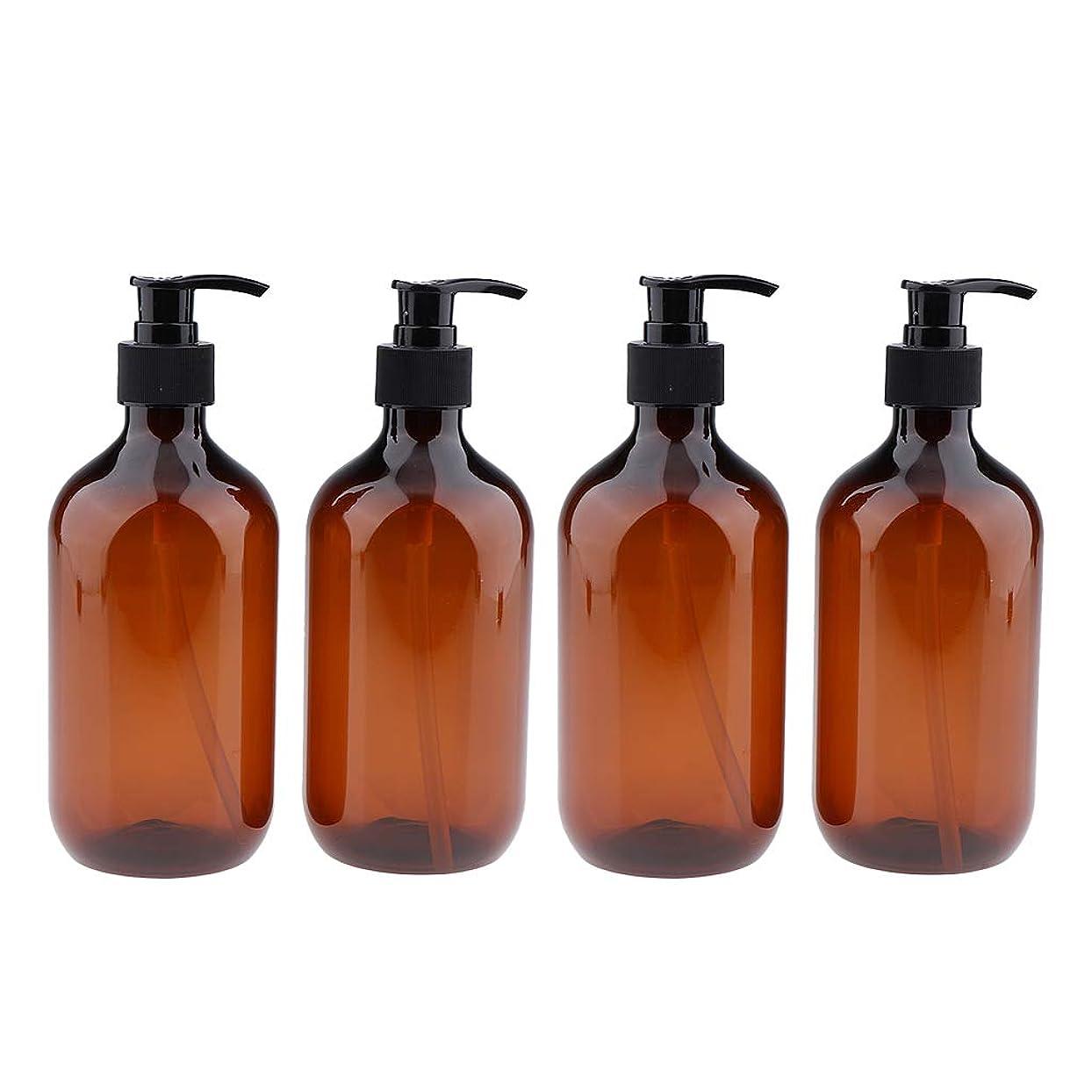 場合一月美容師B Blesiya 4個 シャンプーボトル ポンプボトル 500ml