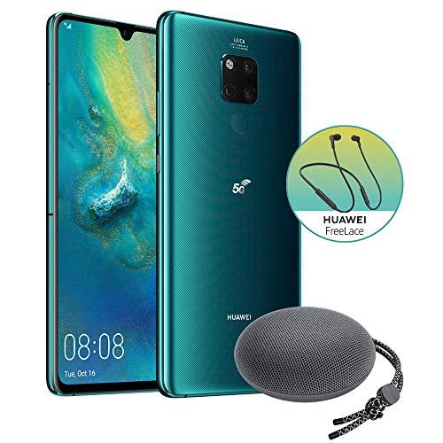 "Huawei Mate20 X 5G (Green) Smartphone + Speaker Bluetooth, 8GB RAM, Memoria 256GB, Display 7.2"" OLED FHD+, Processore Kirin 980, Tripla Fotocamera 40+20+8MP [Italia] + Auricolari Freelace"