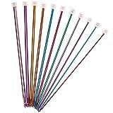 Juego de agujas de tejer de aluminio, 11 piezas, multicolor, 2 mm a 8 mm#13-MYZG
