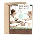 Hallmark Shoebox Funny Birthday Card for Friend, Thank You Card, Friendship Card (Buck Naked)