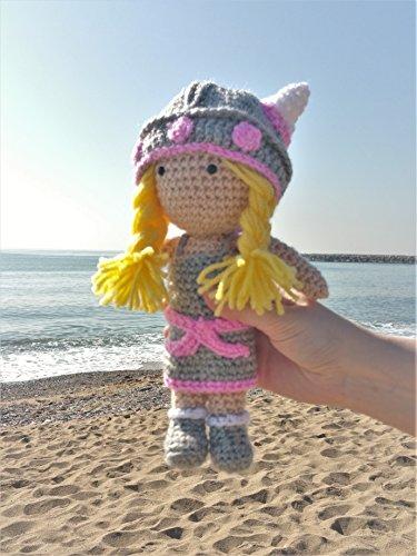 Viking Puppe Baby 24 Zentimeter amigurumi handmade