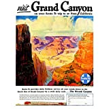 Wee Blue Coo Vintage Travel Grand Canyon America Art Print