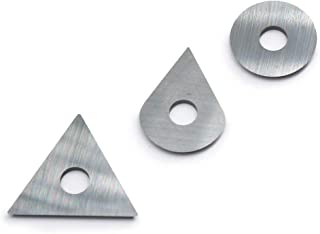 OSCARBIDE Carbide Scraper Blades for Removing Paint Glue Varnish Rust Fits Most Popular Hand-hold Scrapers Replacement Blades Include Round Drop Triangle Shaped,3pcs/set