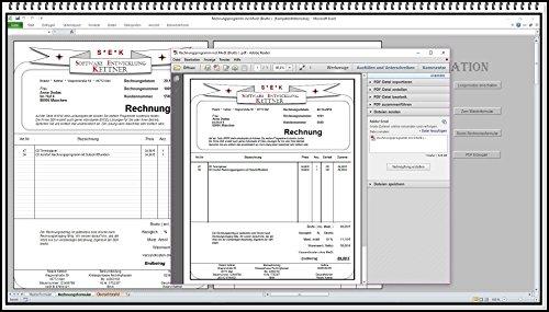 Rechnungsprogramm mit Produktpalette, Kundendatenbank PDF Funktion. Einfache Bedienung ohne Computererfahrung 2 Steuersätze in einem Formular auch für Kleinunternehmer § 19 UStG