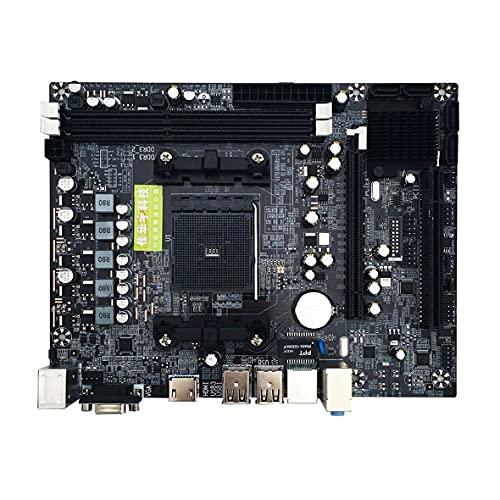 Wolfberrymetal Placa Base, Placa Base A88M2 A10 A58 PCI-E 2xDDR3 4xSATA2.0 Interfaz DIMM FM2 / FM2 + CPU Interfaz DDR3 para Placa Base de computadora AMD