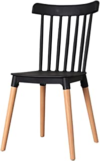 Sillas Comedor Silla --- Silla de comedor de PP de madera maciza simple, silla creativa de patas de madera maciza natural, sala de estar, dormitorio, silla creativa de comedor (tamaño 84X43X46 cm)