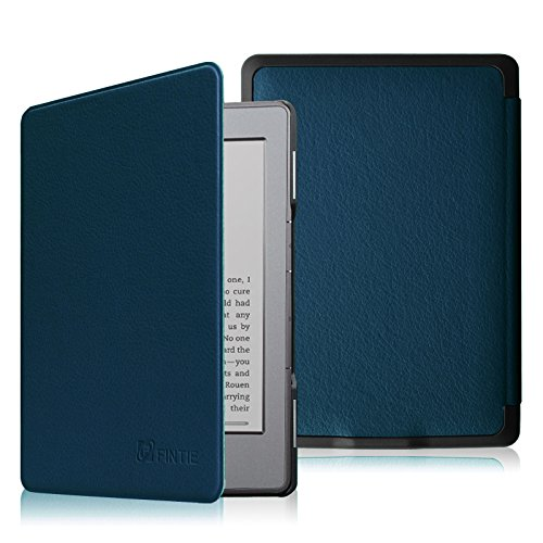 Fintie Hülle kompatibel für Kindle 5 (5. Generation 2012 Modell) / Kindle 4.Generation - Die dünnste und leichteste Schutzhülle mit Magnetverschluss, Marineblau