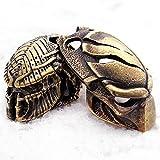 CooB EDC Paracord Bead Beads, Beard Bead, Charm, Knife Lanyard Bead. Metal Hand-Casted Paracord Lanyard Beads Charms for Knife Lanyard Accessories. Alien vs Predator. 1pcs/Lot (Predator + MASK #2)