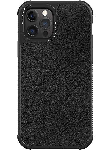 Black Rock - Hülle Leder Hülle Real Leather Passend für Apple iPhone 12/12 Pro I Lederhülle, Handyhülle, Dünn, Ledertasche (Schwarz)