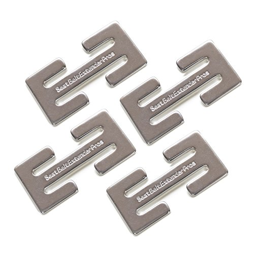 Seatbelt-Adjusting Clips (4-Pack) Helpful Tool to Position The Webbing, Makes Buckling Up Possible - Helps You Breathe Again Metal