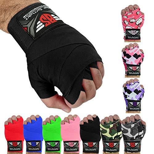 Hand-Bandagen, Boxhandschuhe aus Baumwolle, für MMA, damen Herren Kinder, schwarz