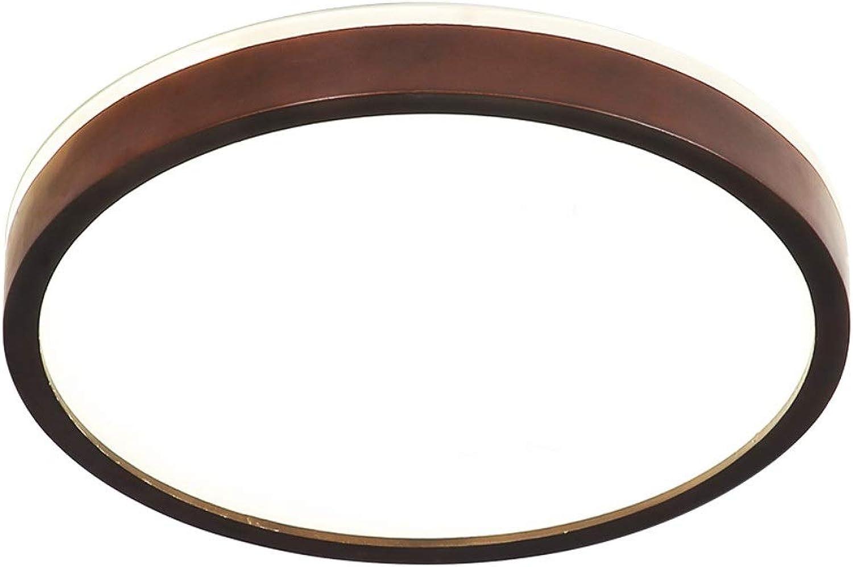 Led Runde Deckenleuchte Ultradünne 5,8 Cm Massivholz Deckenleuchte Küche, Wohnzimmer, Schlafzimmer, 18w  Led Deckenleuchte (Energieklasse A ++) (Größe   30cm18w)