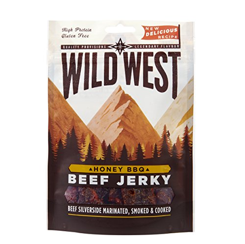 Wild West Honey BBQ Beef Jerky, 35 g, Pack of 12