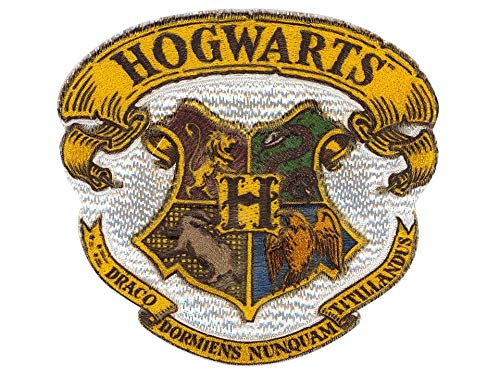 by gedeacc-kreativ Bügelbild Aufnäher Patch Applikation zum Aufbügeln Harry Potter Hogwarts Wappen Logo 6,2 x 5,7 cm