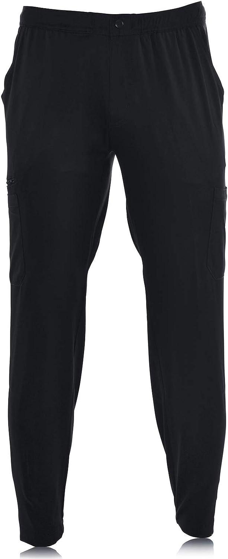 MediChic Men's Straight Leg Seven Pocket Scrub Pant with Inside