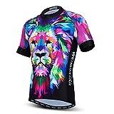 Lion Print - Camisetas de ciclismo con estampado para hombre, transpirable, secado rápido