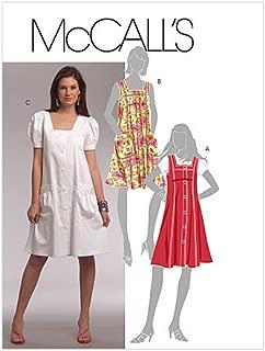 MCCALLS PATTERN M5656 MISSES'/MISS PETITE JUMPER AND DRESSES SIZE F5 16-24