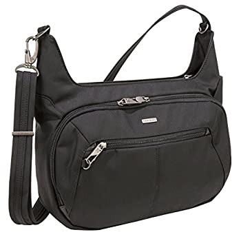 Travelon Anti-Theft Concealed Carry Hobo Bag Black One Size