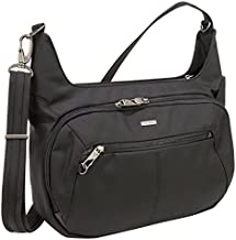 Travelon Anti-Theft Concealed Carry Hobo Bag, Black, One Size