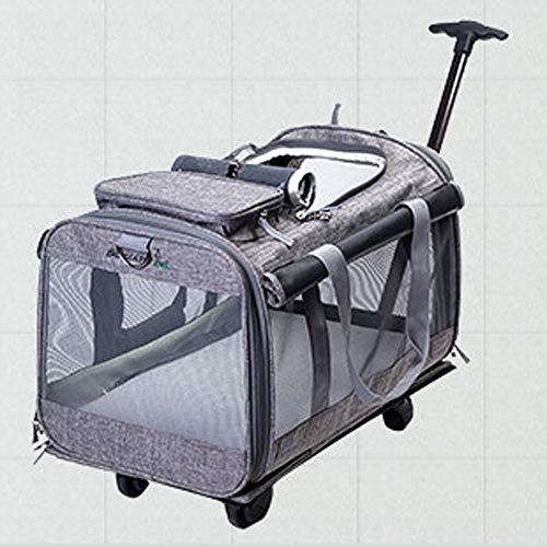 TYXL Haustier Betten. Universal-Rad tragbare Riemenscheibe Katzentasche Haustier Tasche atmungsaktiv Haustier...